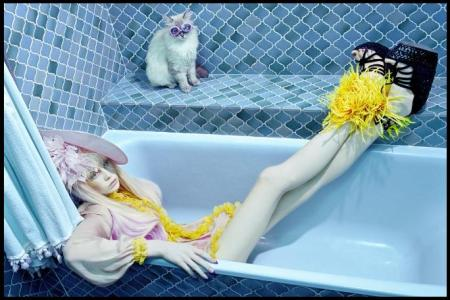 via 100 Layer Cake, Photographer Miles Aldridge for Vogue Italia