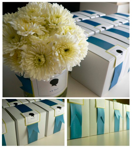 Flowers and Favor Boxes