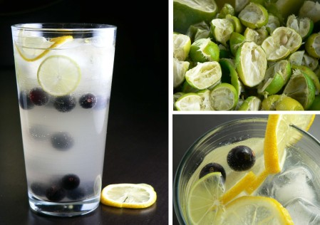 Key Lime Limeade with Black Grapes